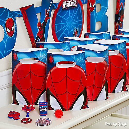 NEW Spider-Man Party Games Wall Poster Birthday Party Decorations Favor Supplies