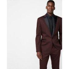 Shop Big & Tall Slim Burgundy Satin Peak Lapel Cotton Sateen Tuxedo Jacket and more
