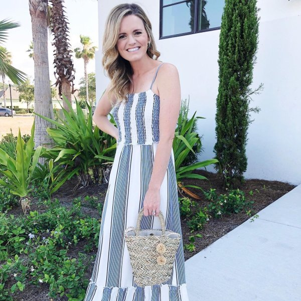 d91c3f9a1d @meghan_lanahan's instagram image of maurices - Striped Smocked Maxi Dress  - Walmart.com,