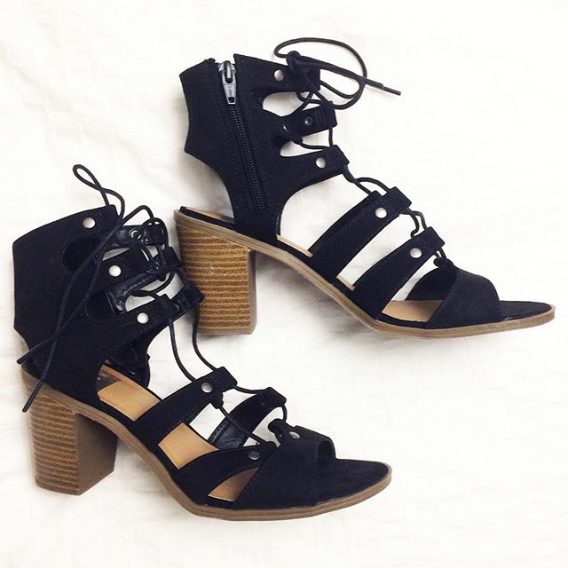 8a8853911749 Women s dv Zoey Gladiator Sandals Stacked Heels   Target Finds
