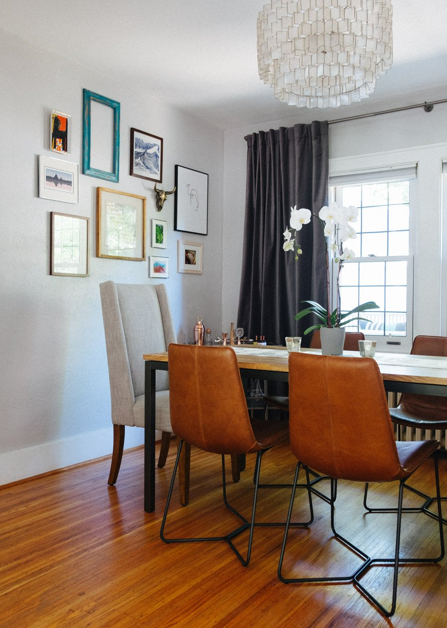 MidCentury Style In A S Craftsman Home Front Main - West elm box frame dining table review