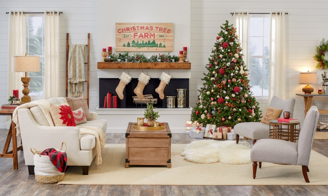 How To Create A Cozy Farmhouse Christmas Overstock Com