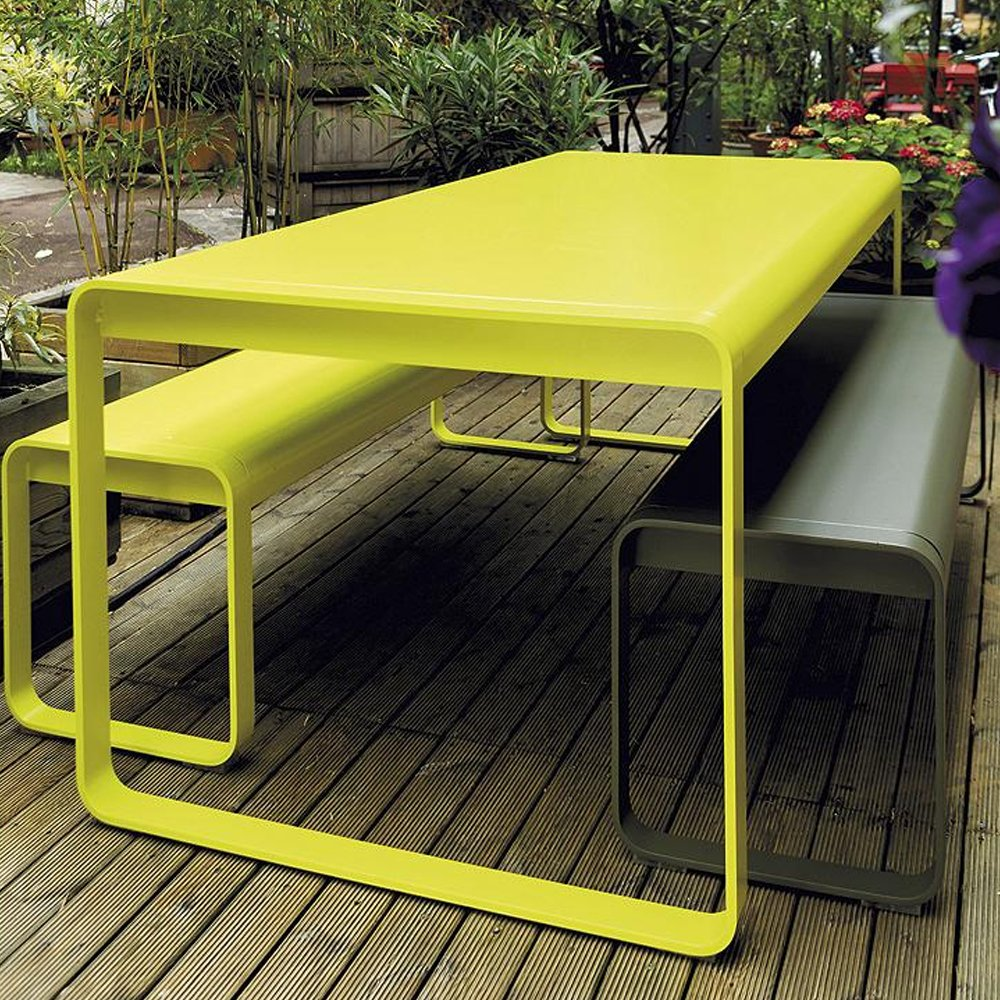 Curated image with bellevie table by fermob bellevie bench by fermob
