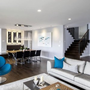 heres the final reveal of our kirkland residence the open floor plan allows you - Modern Home Furniture