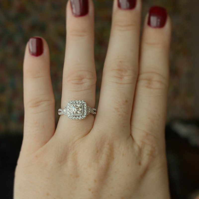 forever obsessed with my engagement ring engaged proposal wife - Helzberg Wedding Rings