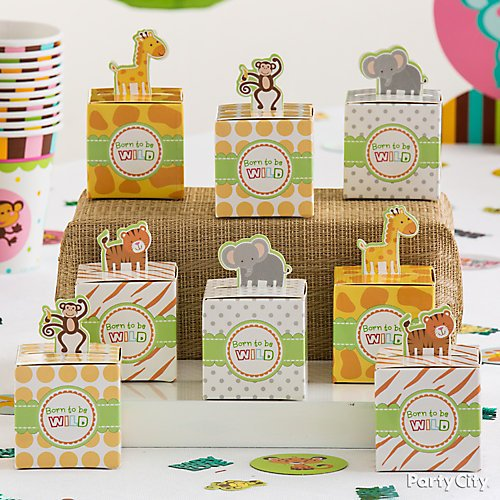 Curated image with Born to Be Wild Jungle Favor Boxes 24ct, Woodland Baby Shower Pillow Mints 50c...