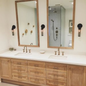 Kohler Purist Bathroom Faucet. Kohler Custom Made White Oak Vanity Mirrors And Towel Knobs Simple And Clean