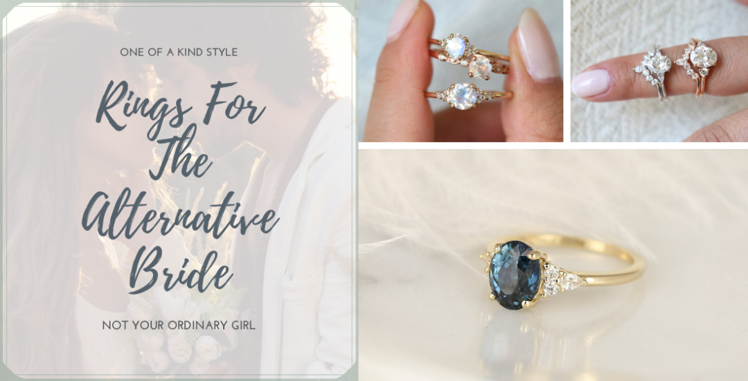 Rings for the alternative bride - Love & Promise Jewelers