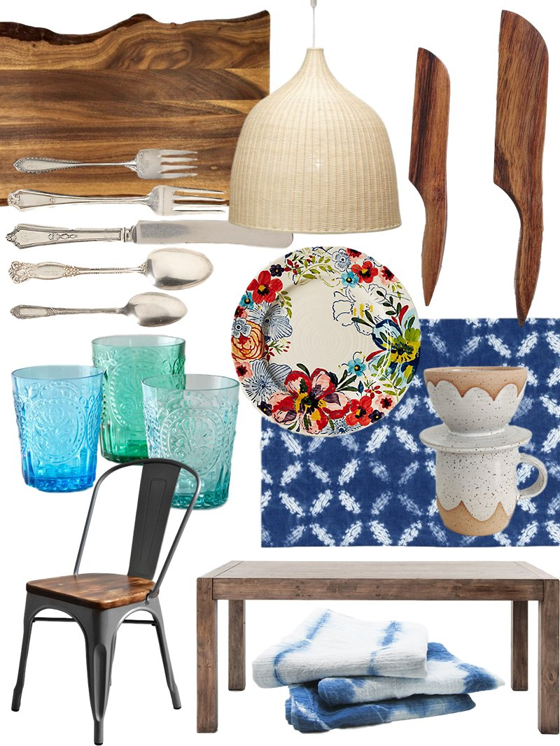 Create the look artful bohemian dining room shopping guide casual inviting and perfectly mismatched a boho dining room sets the scene for the kind of lingering dinner party that lasts all night dzzzfo
