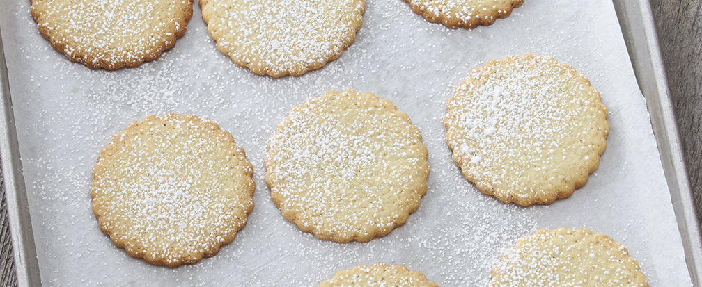 Christmas Cookies with Powdered Sugar