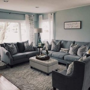 Living Room I Fell In Love With Farmhouse Style A Touch Of Costal Cozy