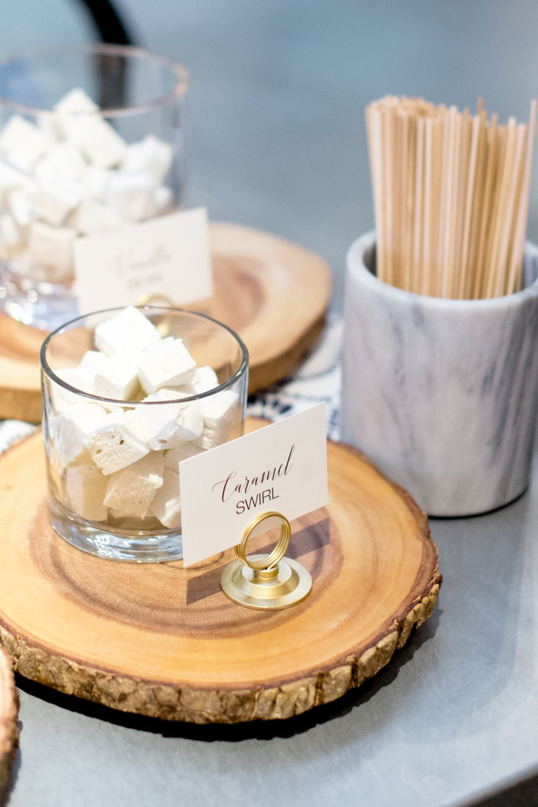Caramel swirl marshmallows at S'mores bar