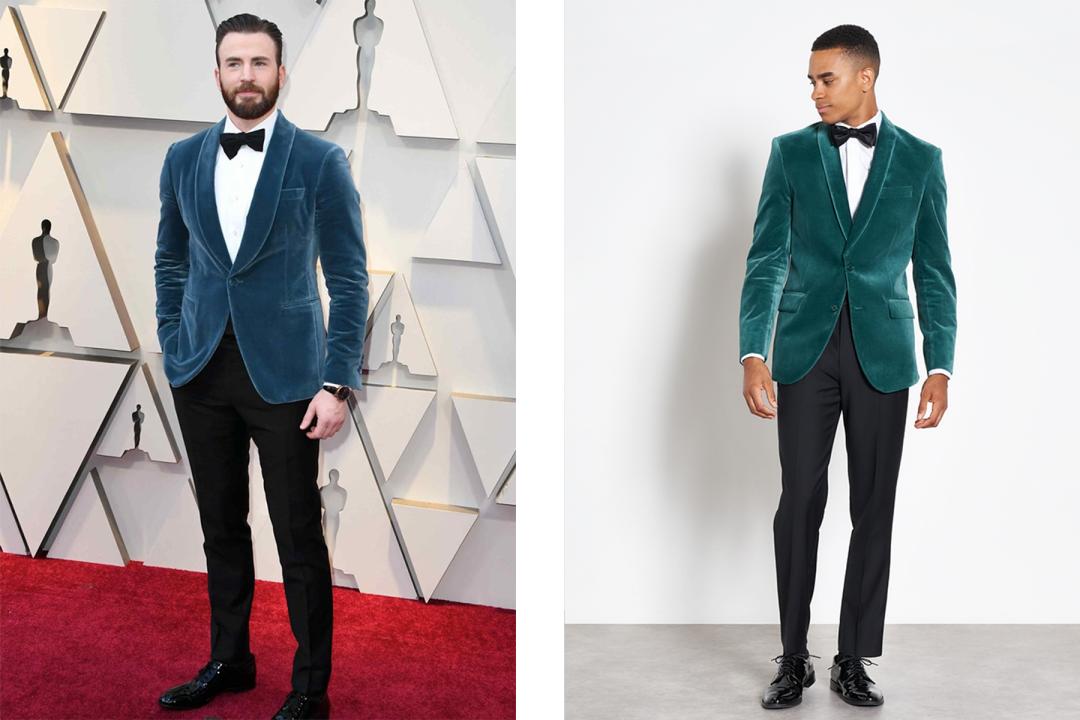 87881de3462 Two big fit trends in one look  jewel tones and velvet. More like Captain  America s Next Top Model. Shop the Look ➝
