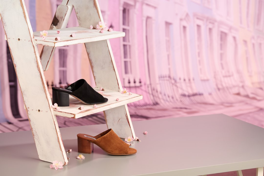 e44e98324a22da JUPITA - Unlined Block Heel Mule Sandal £26.00