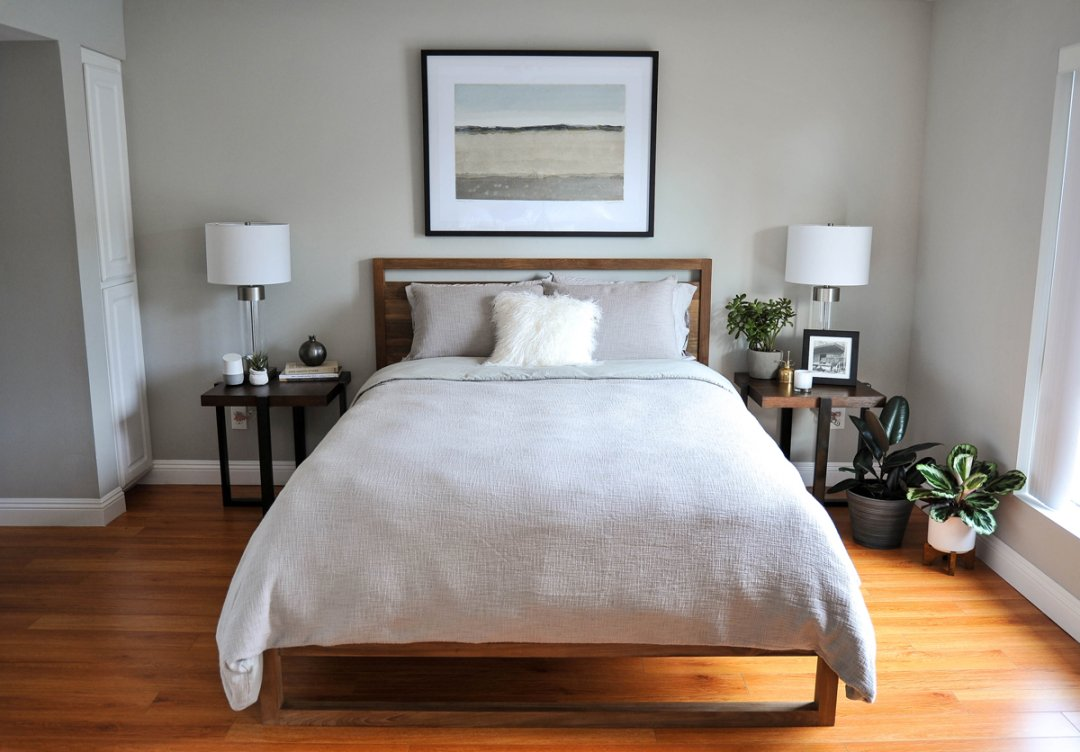 White and Wood Master Bedroom Ideas