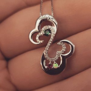 b9f7096f0 I'm in ❤ with my birthday present! 😍 #openheartnecklace #mothersnecklace #