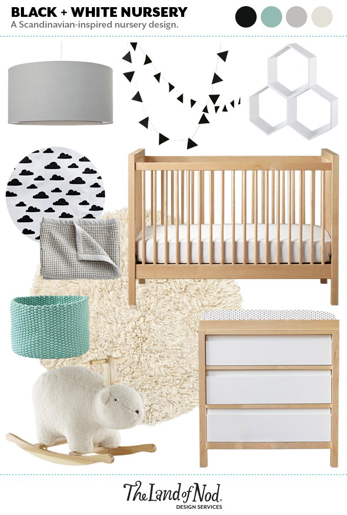 Light Wood Nursery Moodboard