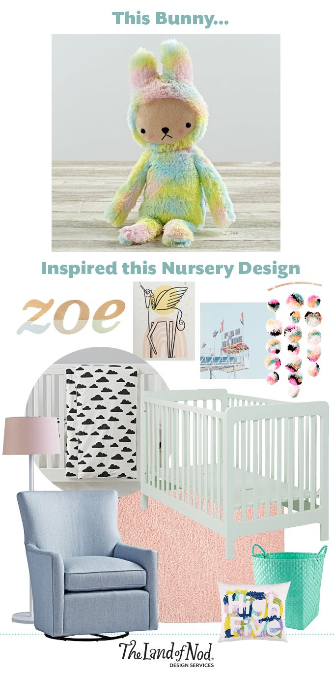 From Inspiration to Nursery Design: Bijou Bunny
