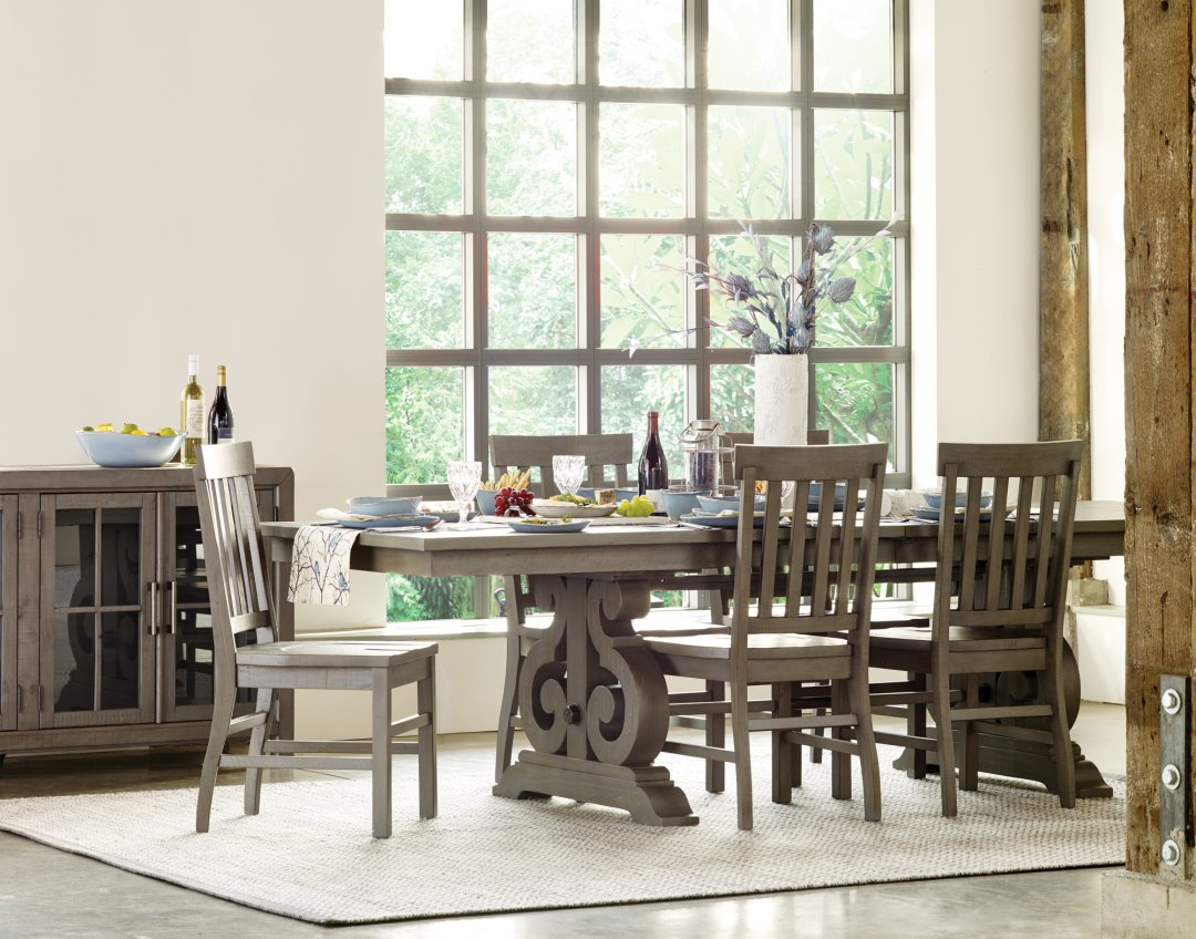 Shop churchill ext dining table pewter churchill dining chair pewter churchill sideboard