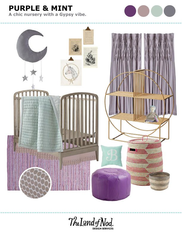 Purple and Mint Nursery