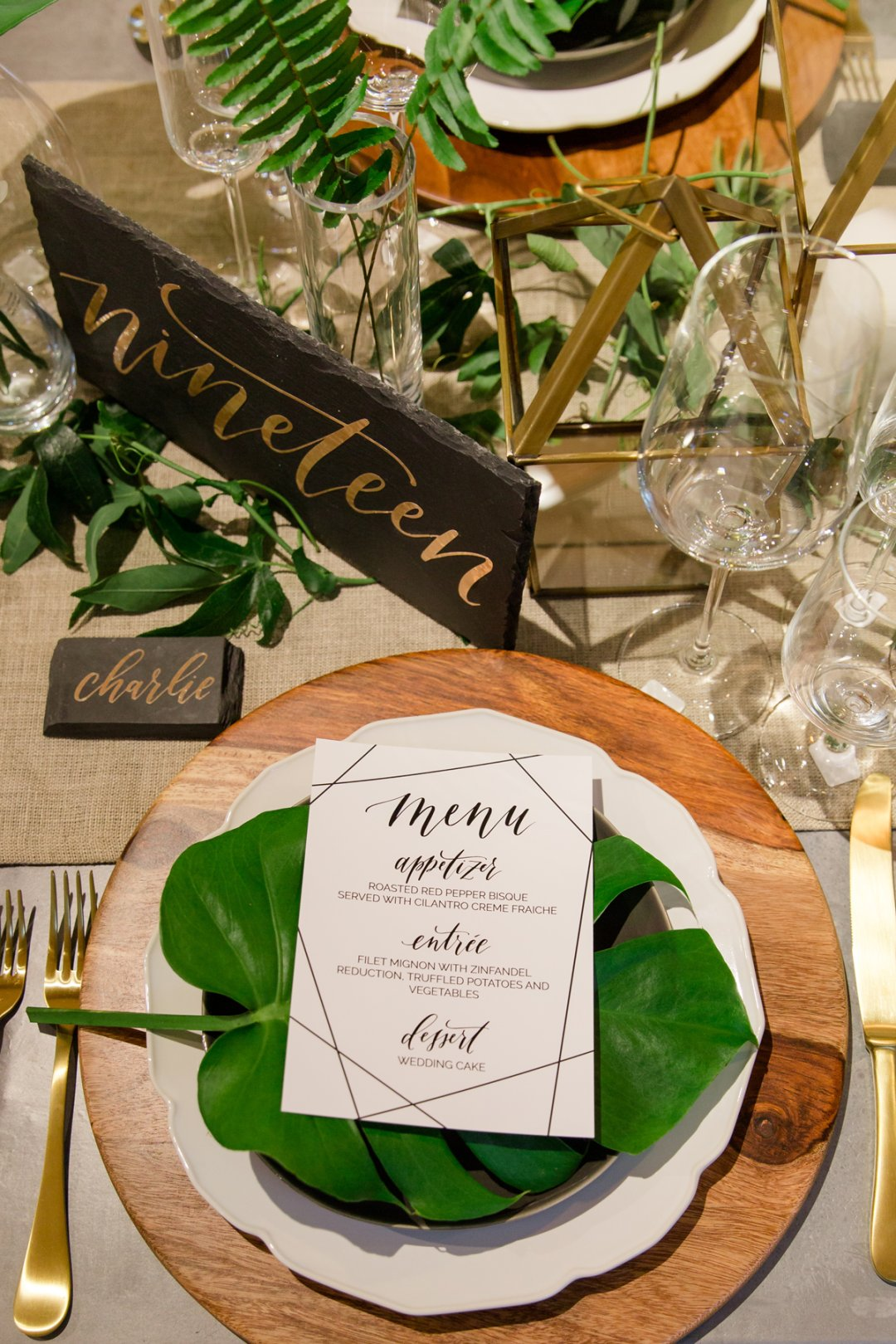 Placesetting at table