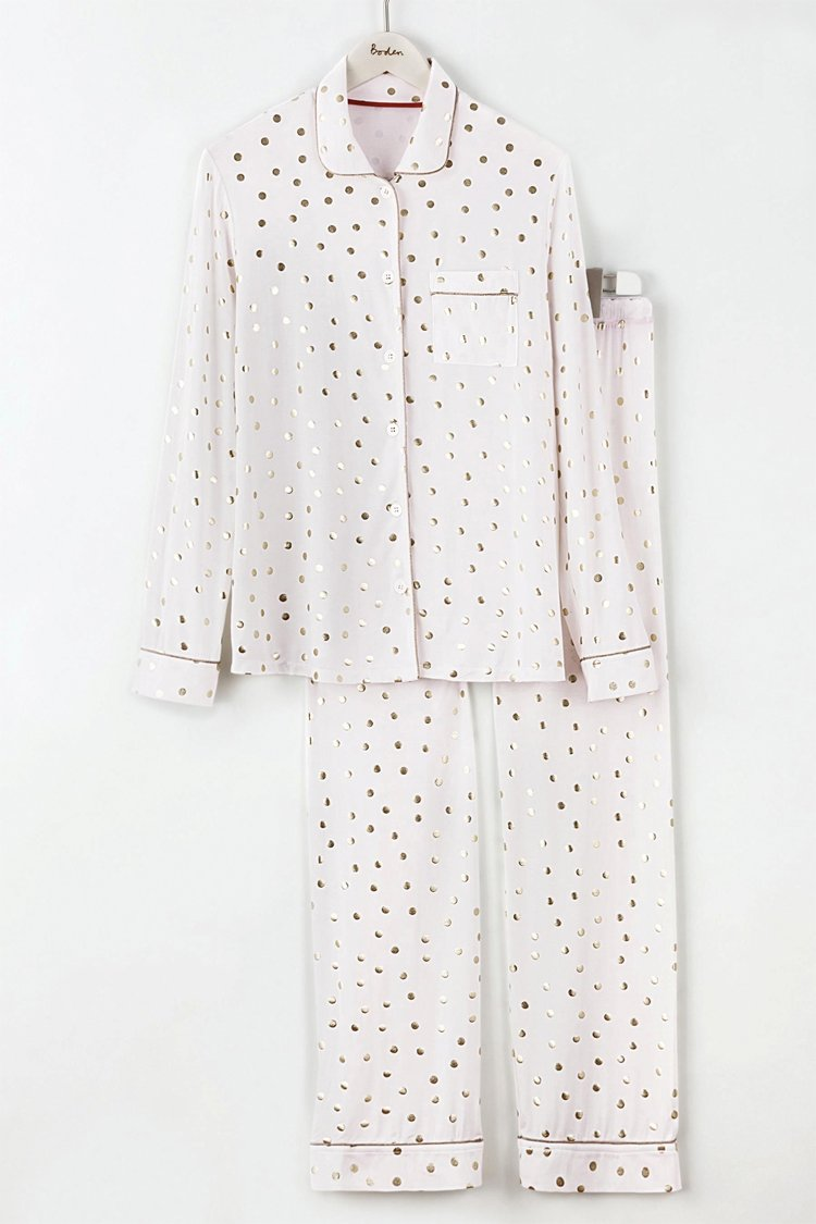 White Gold Star PJs from Boden