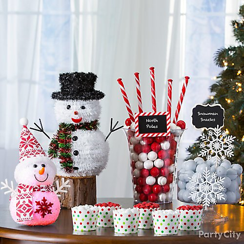 Snowman Theme Holiday Decorating Ideas Party City
