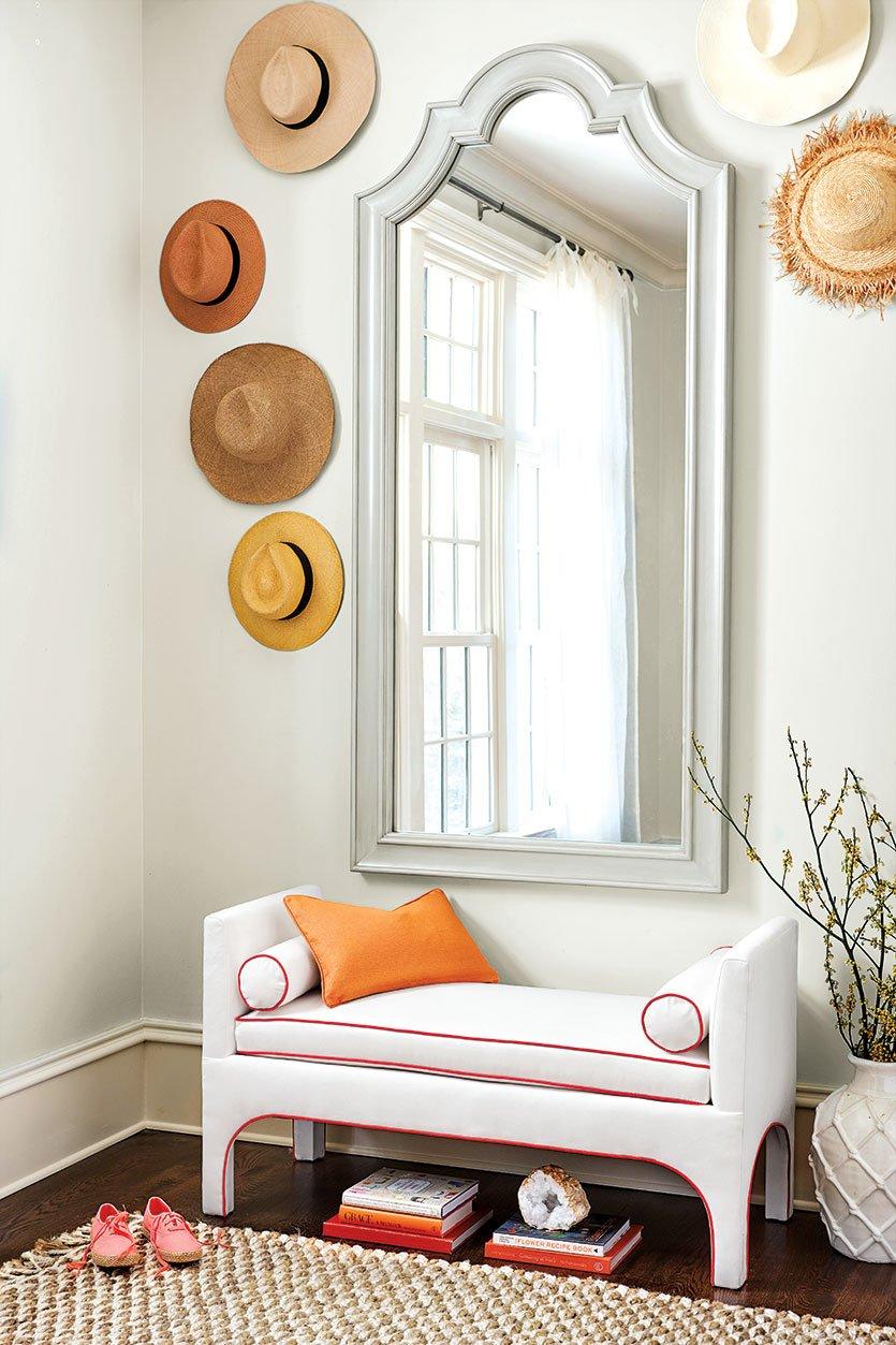 we re loving citrus colors how to decorate shop grands boulevards mirror jackson bench ballard designs cotier natural fiber rug and more