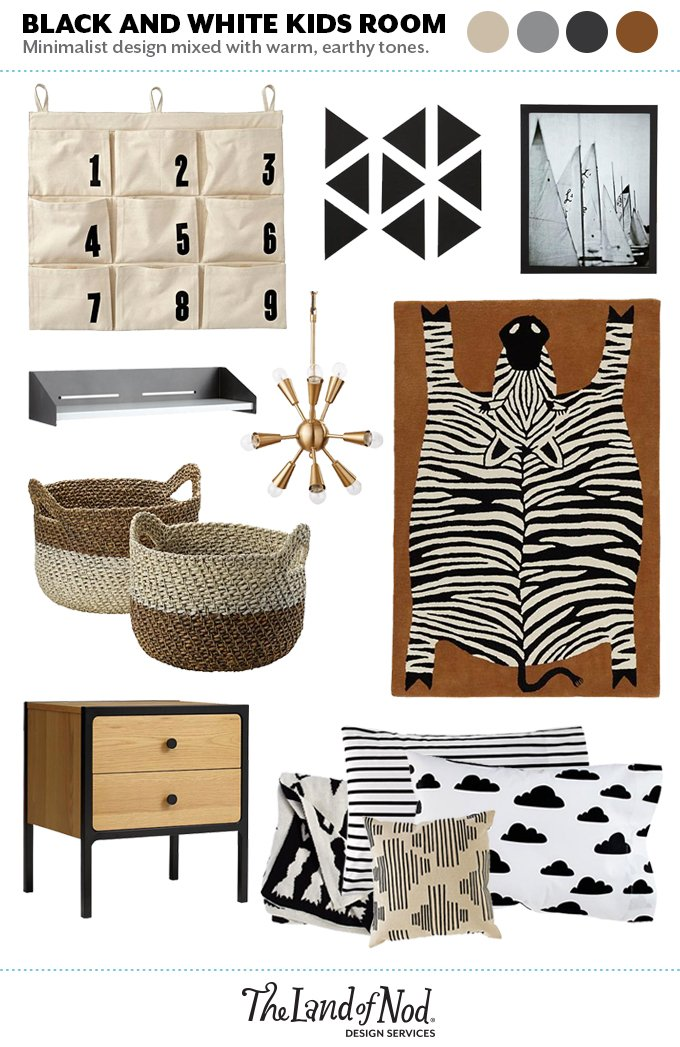 Black And White Room Moodboard Honest To Nod