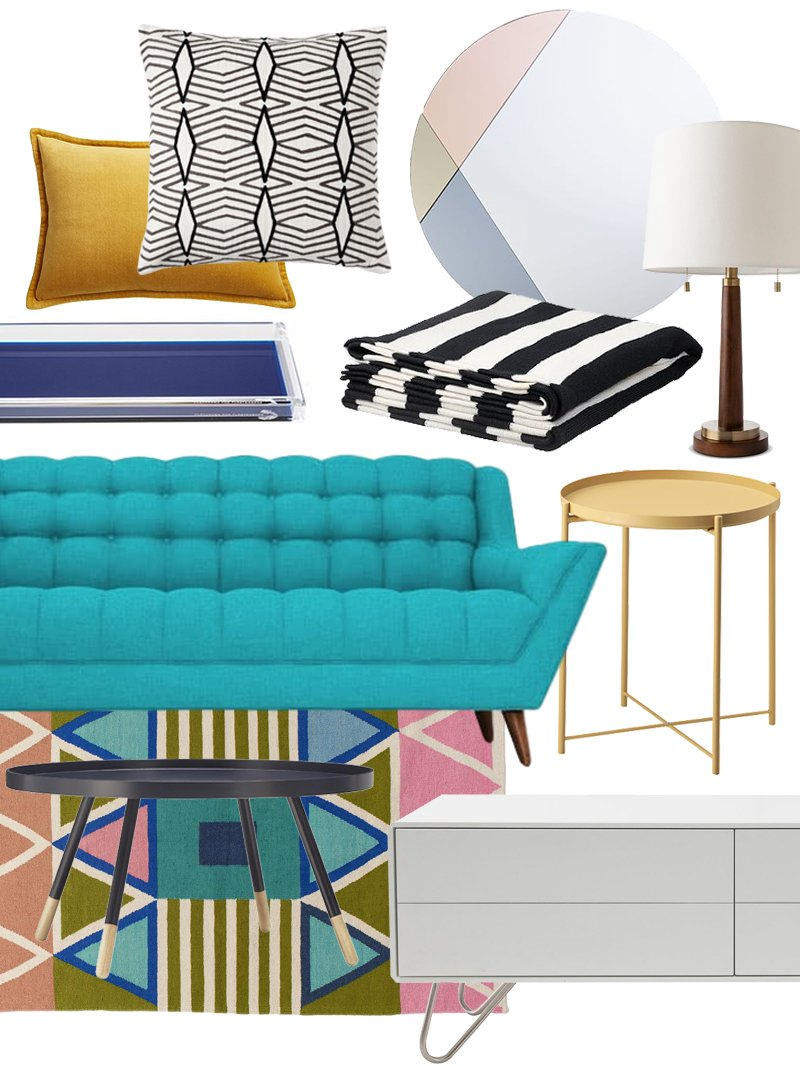 Create The Look Happy Modern Living Room Shopping Guide Apartment Therapy