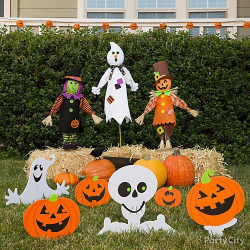 Halloween Yard Stakes.37 Cute Halloween Decorating Ideas Party City