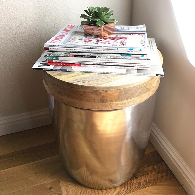 Storage Drum Accent Table Gold Threshold Target Finds