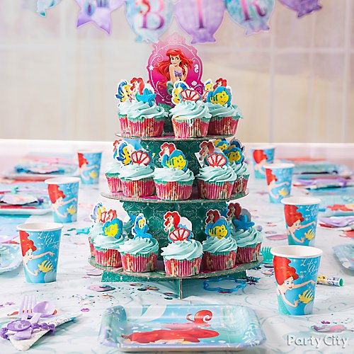 Pleasing Little Mermaid Party Ideas Party City Birthday Cards Printable Riciscafe Filternl