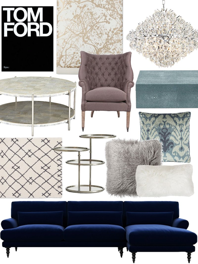 Create the Look: Classic Glam Living Room Shopping Guide | Apartment ...
