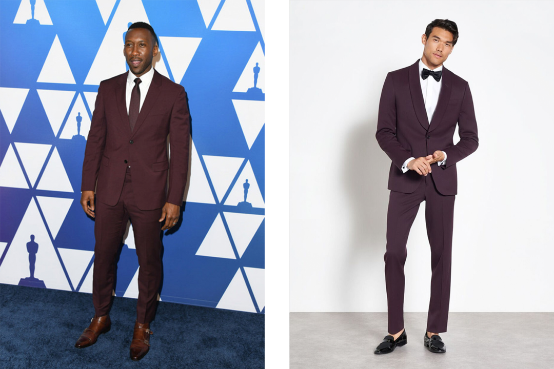 7cd201ce4e1 When you do a full tux—pants and jacket—in a unique color like Mahershala  Ali does here, you turn heads and rack up awards. Shop the Look ➝