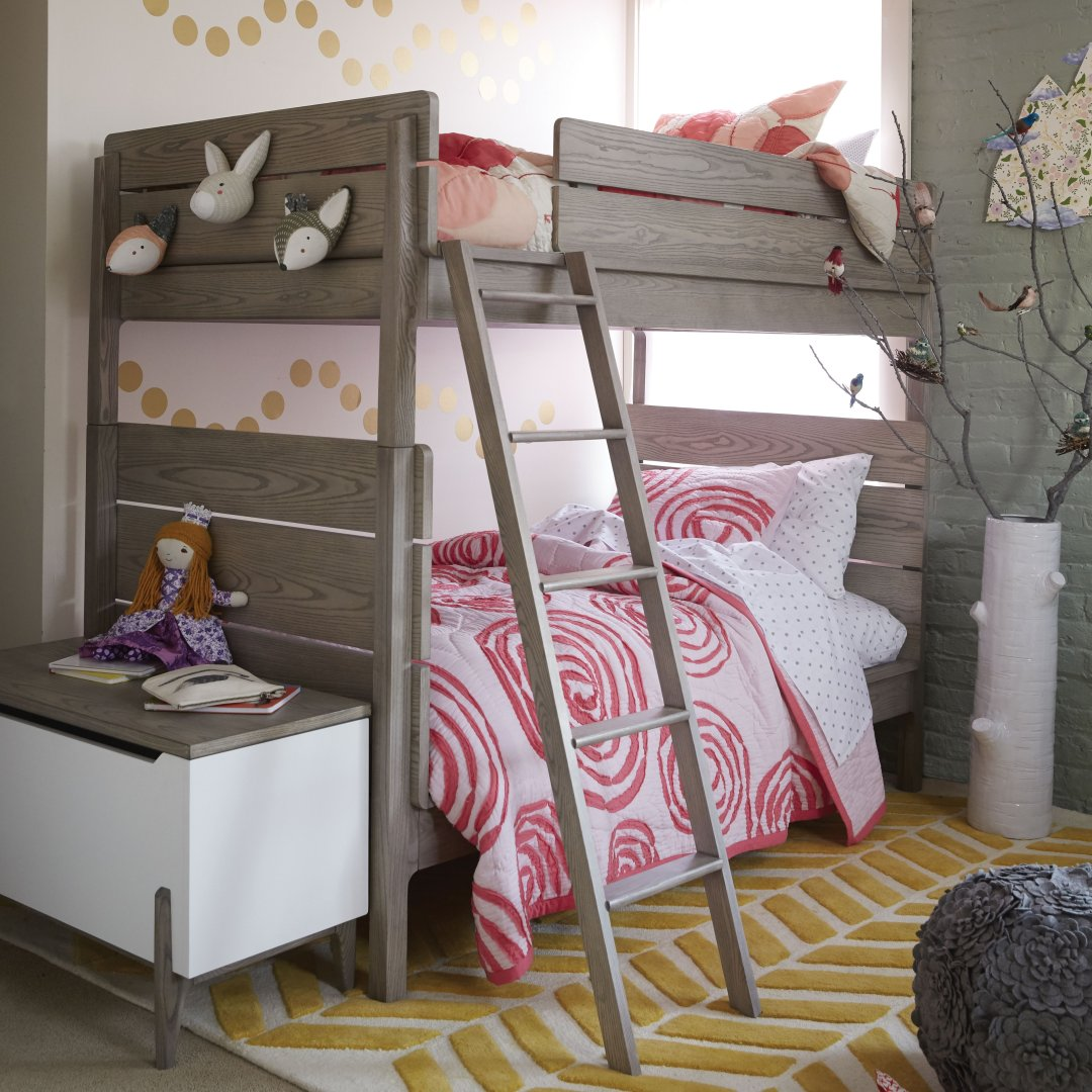 Girls Bedroom With Bunk Beds how to style a girls bedroom bunk bed | honest to nod