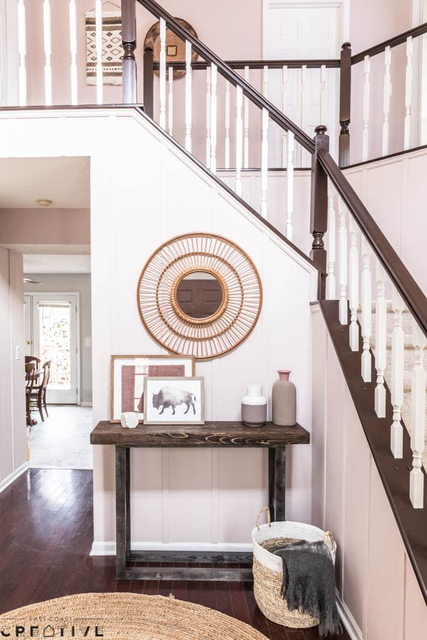 lowes metal baluster colors the weekender episode 2 foyer makeover east coast creative blog