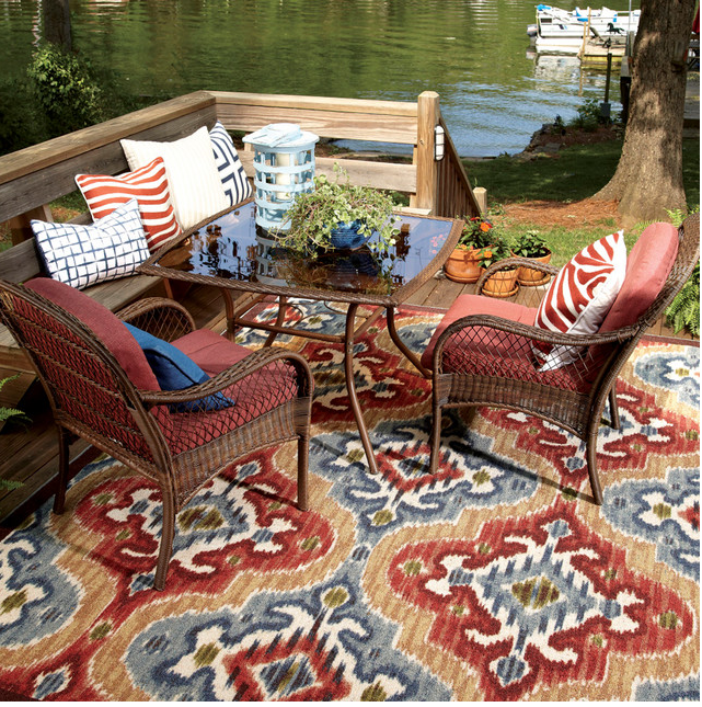 Dining Al Fresco - ideas - outdoor rug - Mohawk Homespcaes - Heidi Milton - wayfair