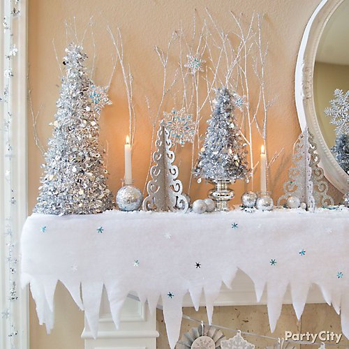 winter wonderland decorating ideas party city. Black Bedroom Furniture Sets. Home Design Ideas