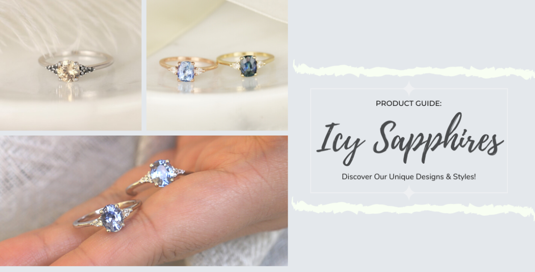Assortment of Icy Sapphire Rings and Styles