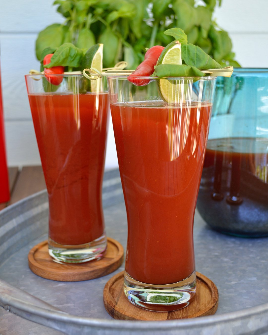 Mexican Drink With Beer And Tomato Juice