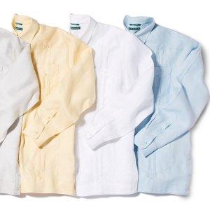 a08cf4f4f Shop our long sleeve 100% linen guayabera... #OfficialSummerShirt #Cubavera  #