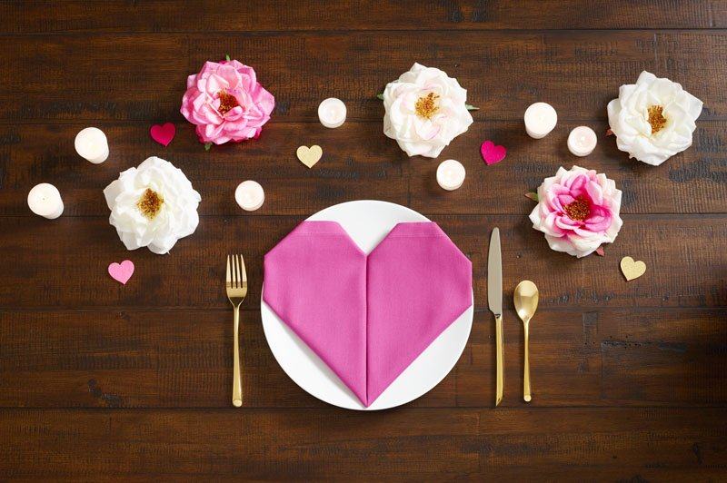 Cupid Chic. You'll Love this Heart-Shaped Napkin Folding Technique. - Discover, A World Market Blog