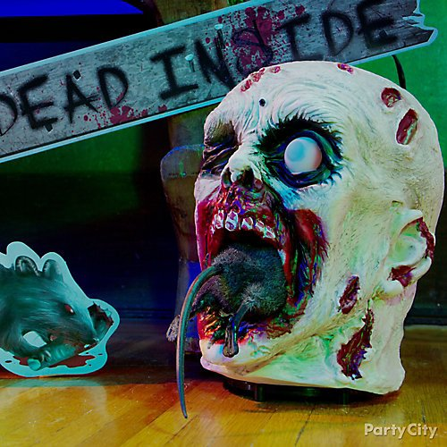 Curated Image With Rat Eating Zombie Head Help Me Yard Decoration Battered Boards