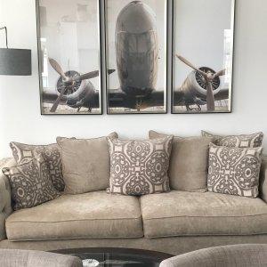 Cindy Crawford Calista Microfiber Sofa Dynasty Mouse Raymour