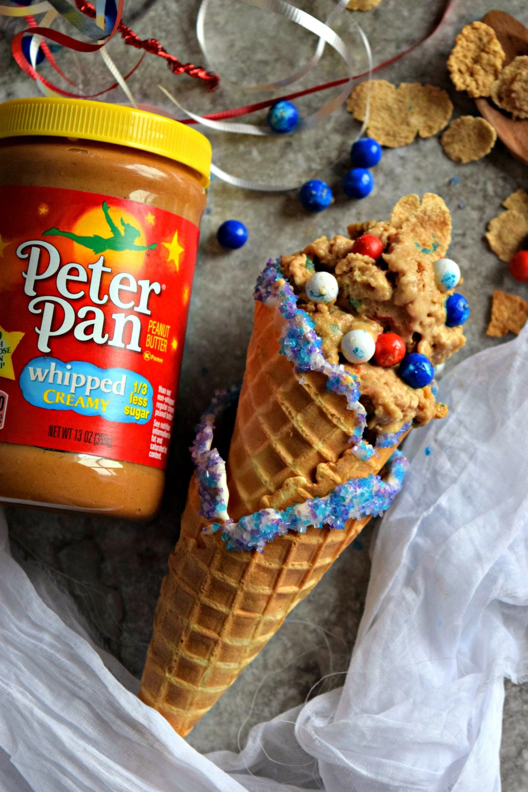 Vegan No Churn Peter Pan Peanut Butter & Cereal Ice CreamDesserts