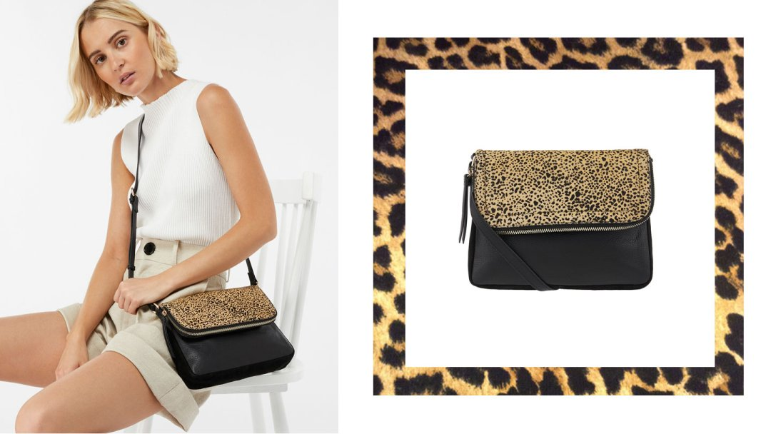 63a7637bcd Curated image with Accessorize Sarah Zip Flap Cross Body Bag Leopard One  Size ...