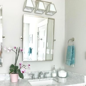 Amelie Vanity Triple Sconce Lighting Ballard Designs - Triple bathroom sconce