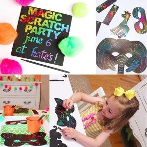 Magic Color Scratch Animal Masks