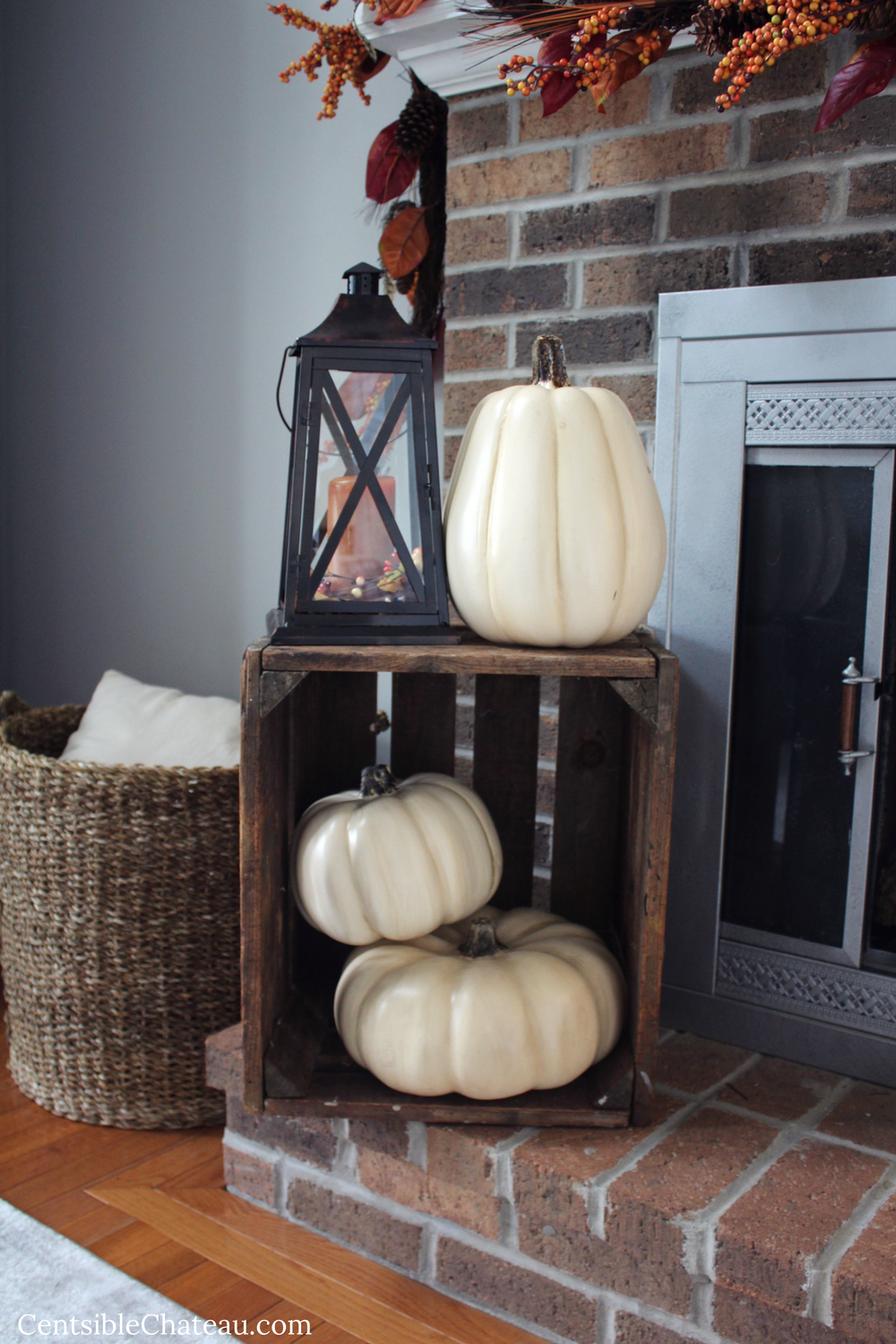 Rustic Fall Mantel Decor